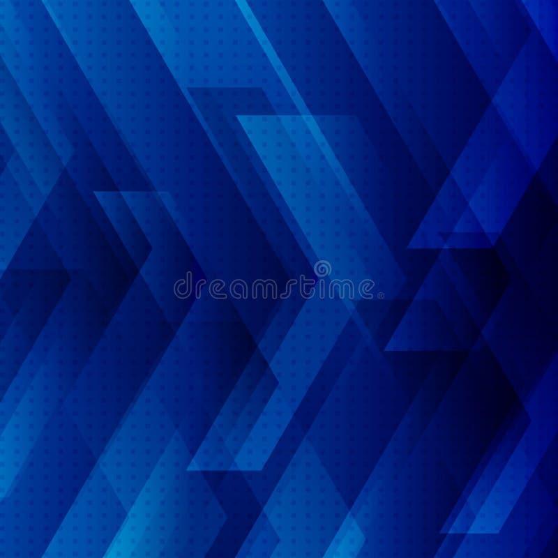 Il fondo blu astratto di tecnologia con le grandi frecce firma il concetto delle bande e digitale della tecnologia Spazio per il  illustrazione vettoriale