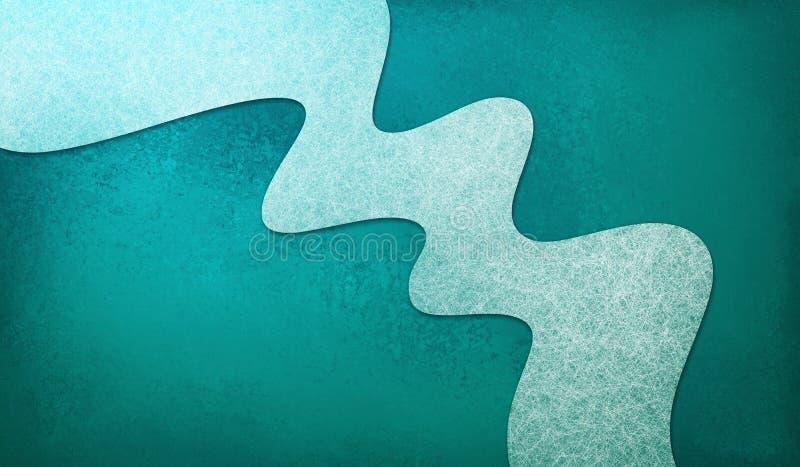 Il fondo blu dell'alzavola astratta con la banda materiale ondulata bianca di progettazione, elemento di progettazione ha struttu illustrazione vettoriale