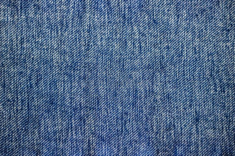 Il fondo blu di struttura dei jeans del denim può essere usato come orientamento di orizzontale della carta da parati fotografie stock libere da diritti