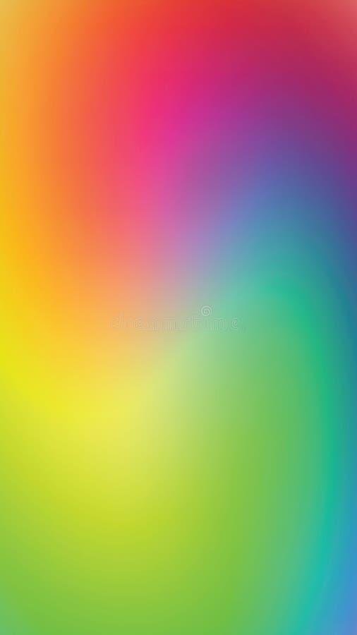 Il fondo blured iridescente dello smartphone, turbina fondo multicolore, illustrazione di vettore illustrazione di stock