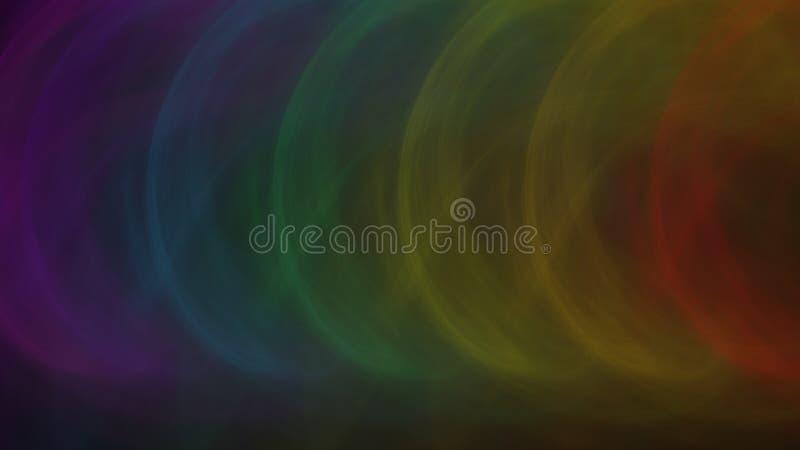 Il fondo C dell'arcobaleno modella il fumo sbiadito illustrazione di stock