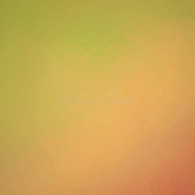 Il fondo caldo dell'arancia e di verde giallo progetta, parete dipinta afflitta annata ruvida royalty illustrazione gratis