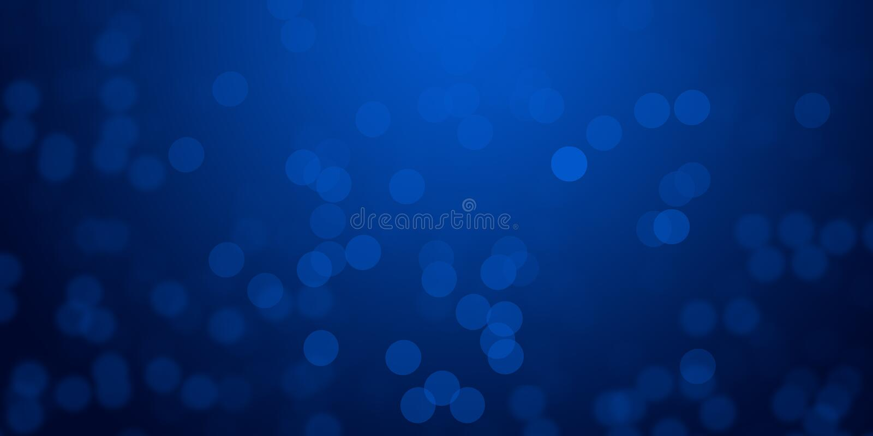 Il fondo d'ardore delle luci della sfuocatura blu & de-ha messo a fuoco la carta da parati del fondo delle luci immagine stock