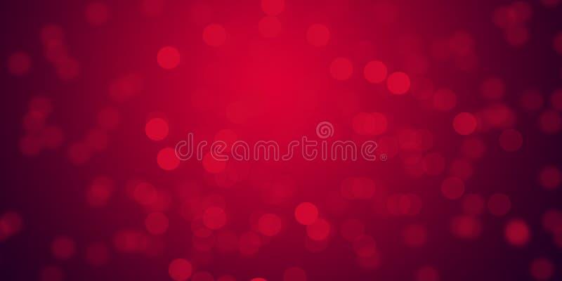 Il fondo d'ardore delle luci della sfuocatura rossa & de-ha messo a fuoco la carta da parati del fondo delle luci immagine stock libera da diritti