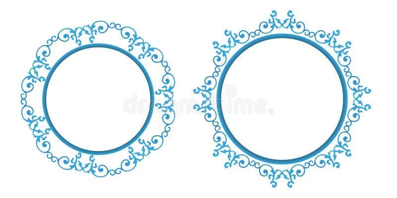 Il fondo decorativo di calligrafia d'annata, vector il retro insieme barrocco in bianco antico della struttura del confine royalty illustrazione gratis