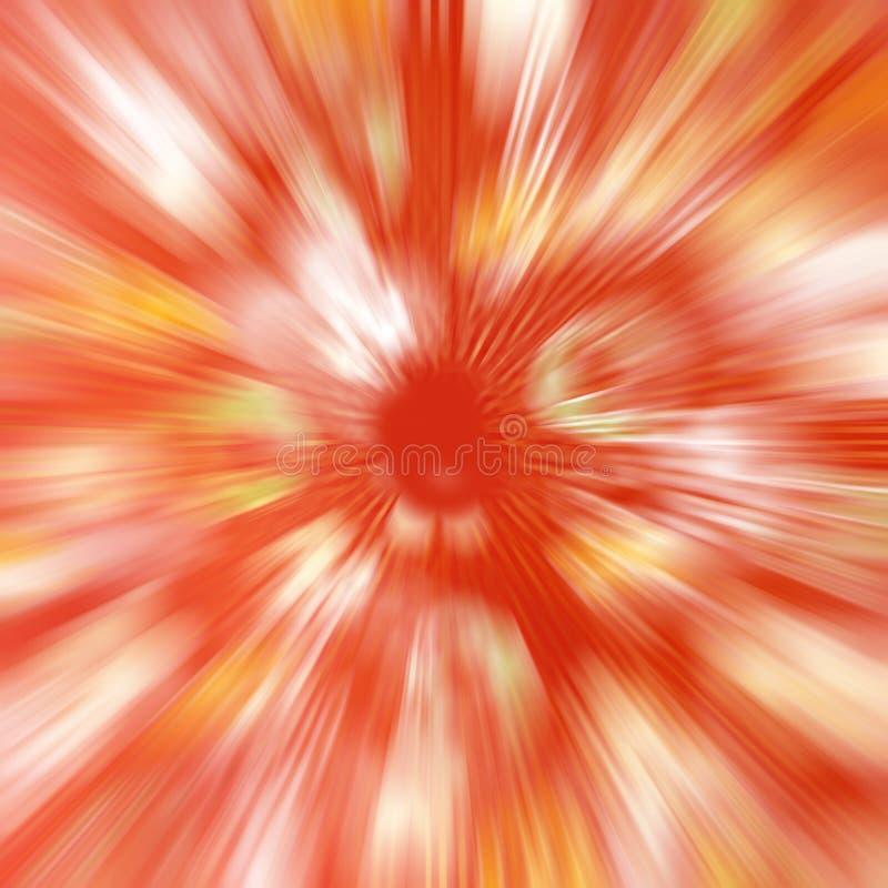 Il fondo del mosso della velocità dell'estratto di colore rosso, parte radiale astratta ha offuscato il fondo del modello illustrazione vettoriale