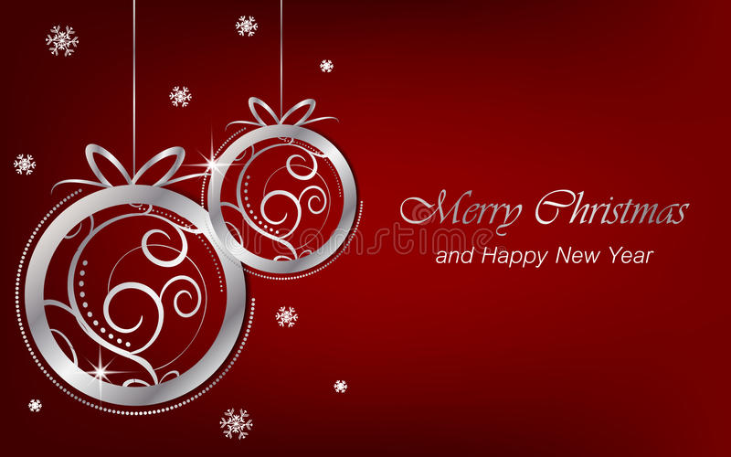 Il fondo del nuovo anno e di Natale wallpaper per la cartolina d'auguri royalty illustrazione gratis