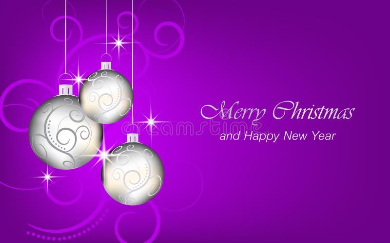 Il fondo del nuovo anno e di Natale wallpaper per la cartolina d'auguri illustrazione di stock