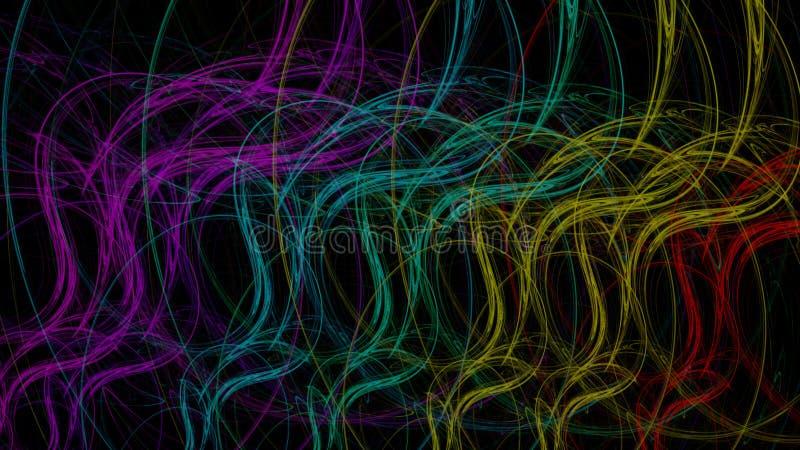 Il fondo dell'arcobaleno ha curvato le luci illustrazione vettoriale