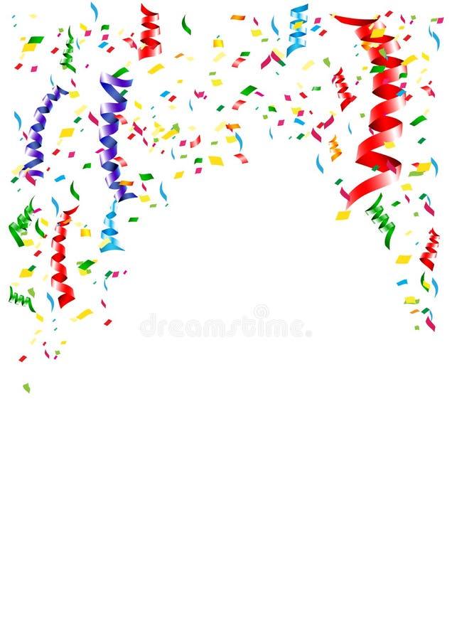 Il fondo dell'elemento del nastro per celebra la decorazione illustrazione di stock