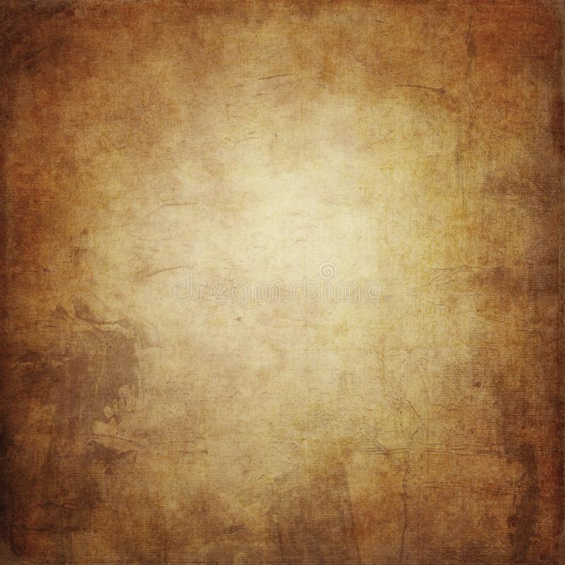 Il fondo di lerciume di Brown, la struttura di carta, pittura macchia, macchie, vi illustrazione vettoriale