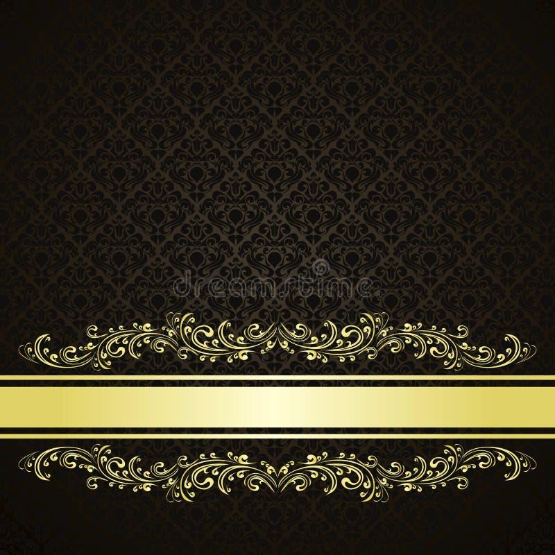 Il fondo di lusso ha decorato un ornamento dell'annata. illustrazione vettoriale