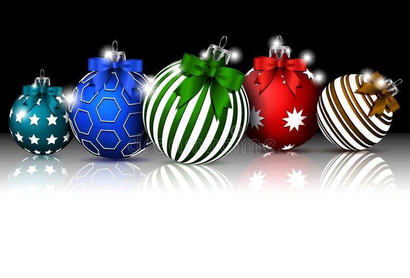 Il fondo di Natale con la decorazione delle bagattelle per voi progetta illustrazione vettoriale