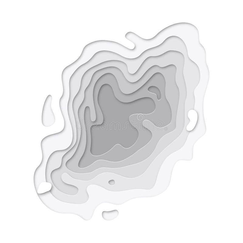 Il fondo di struttura di strati di Papercut di carta 3D ha tagliato il modello del sito Web di arte di vettore royalty illustrazione gratis
