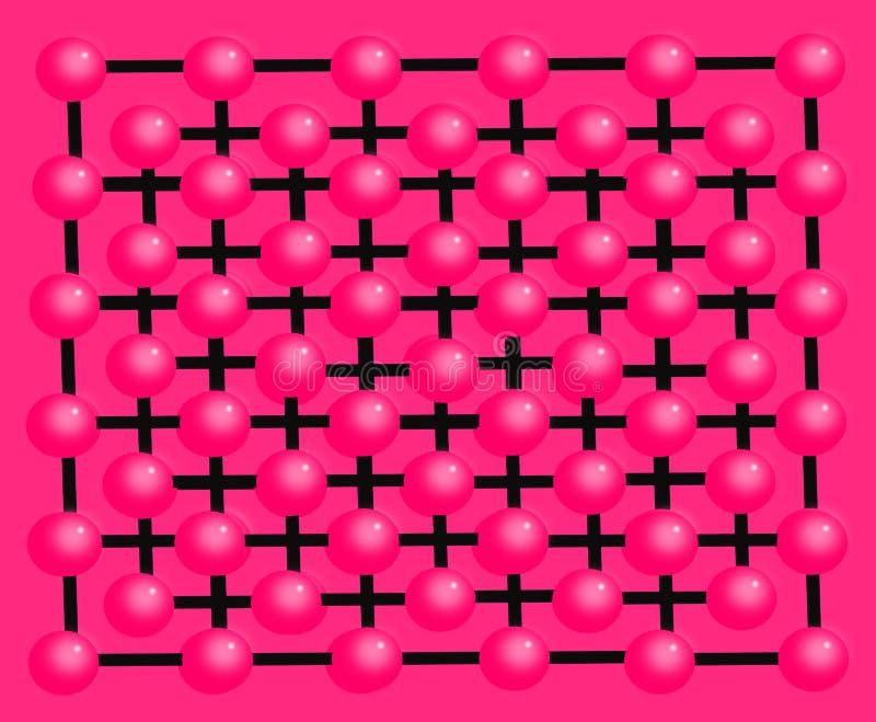 Il fondo e la struttura hanno fatto il ‹del †del ‹del †con le palle rosa decorative royalty illustrazione gratis