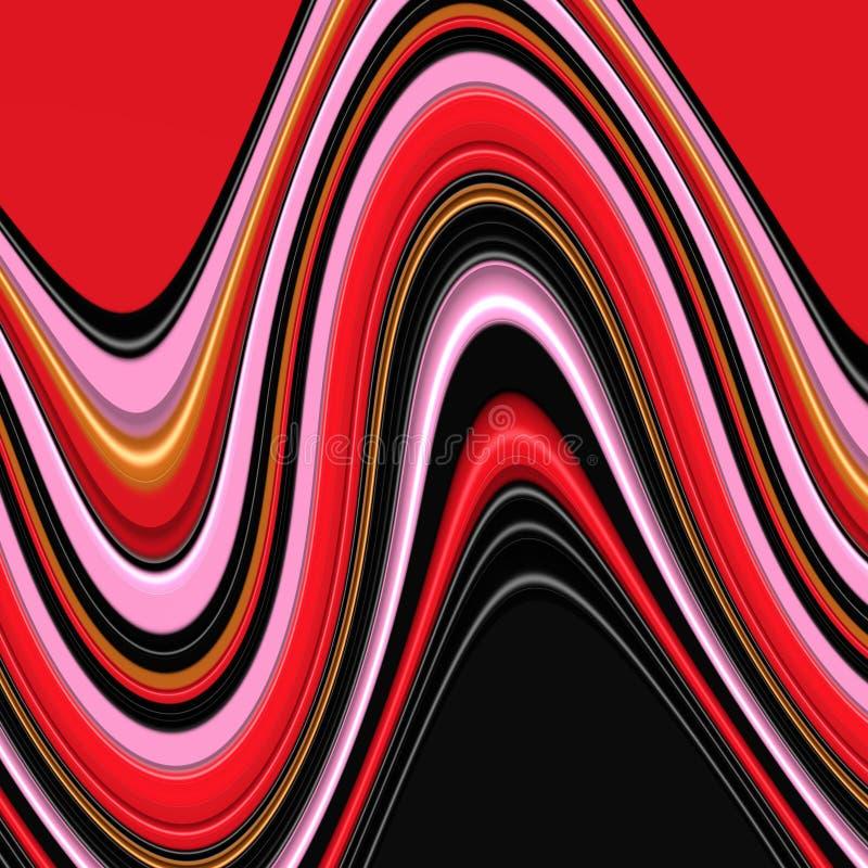 Il fondo fluido rosso, il fondo delle luci, colori, protegge i grafici astratti Priorità bassa e struttura astratte illustrazione di stock