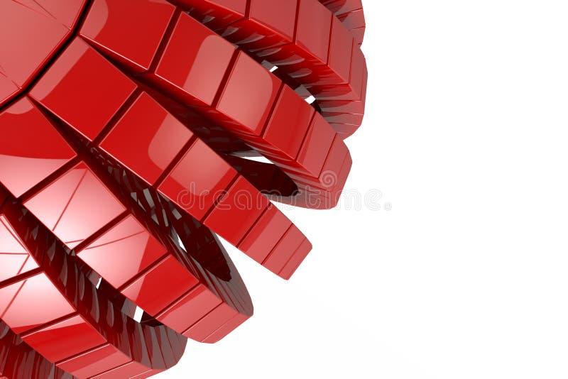 Il fondo geometrico astratto 3d dei cubi rende royalty illustrazione gratis