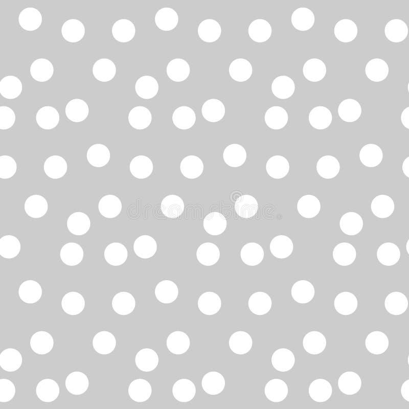 Il fondo grigio chiaro ha sparso il modello senza cuciture di Polka dei punti illustrazione vettoriale