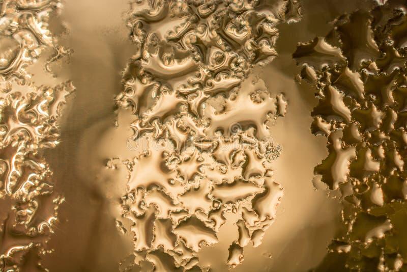 Il fondo ha riguardato le gocce di acqua del withl in primo piano immagine stock libera da diritti