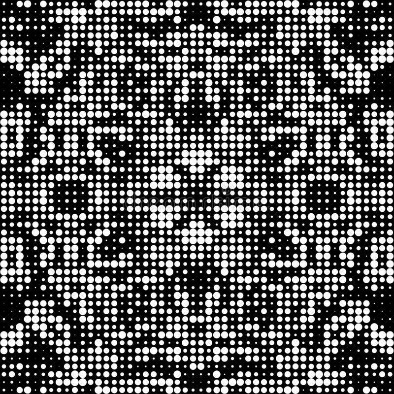 Il fondo monocromatico del semitono, cerchio concentrato ha punteggiato la pendenza illustrazione vettoriale