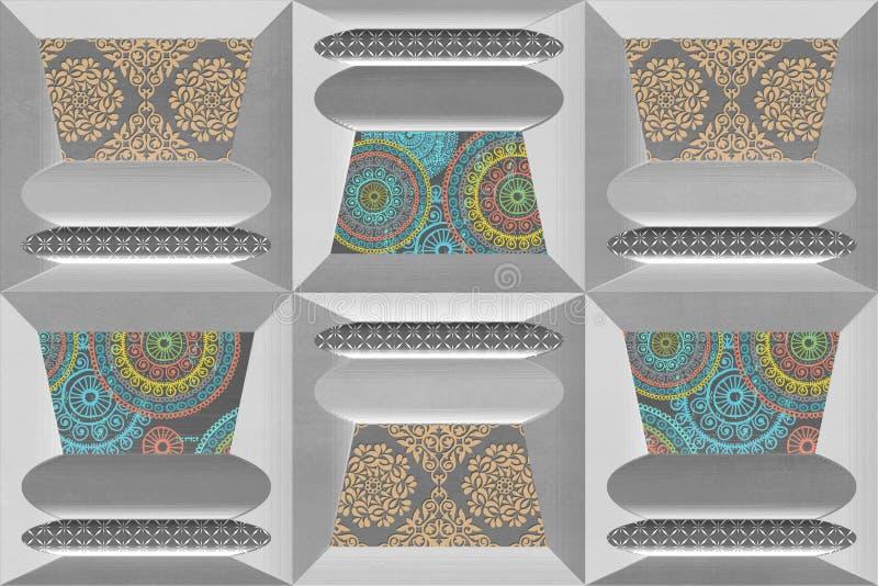 Il fondo Multy di Digital denuclea le mattonelle della parete royalty illustrazione gratis