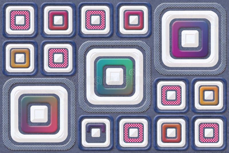 Il fondo Multy di Digital denuclea le mattonelle della parete illustrazione vettoriale