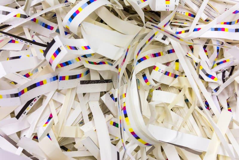 Il fondo residuo dell'industria di stampa delle guarnizioni di carta CMYK spoglia la C fotografia stock libera da diritti