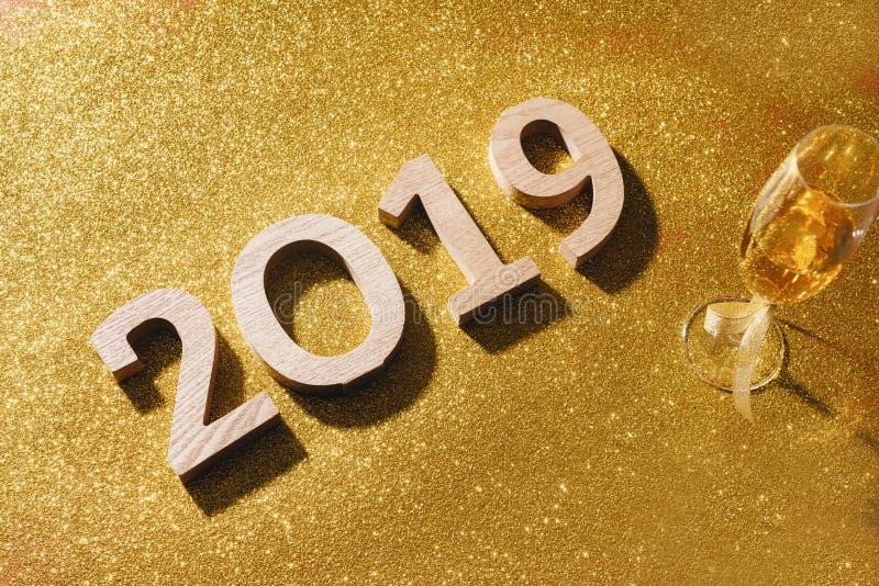 Il fondo scintillante del nuovo anno, copia lo spazio  fotografia stock libera da diritti