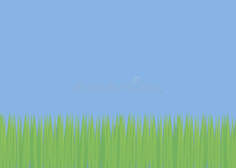 Il fondo semplice con il giorno luminoso della luce fresca verde del prato inglese di calcio della radura del campo di erba e del royalty illustrazione gratis