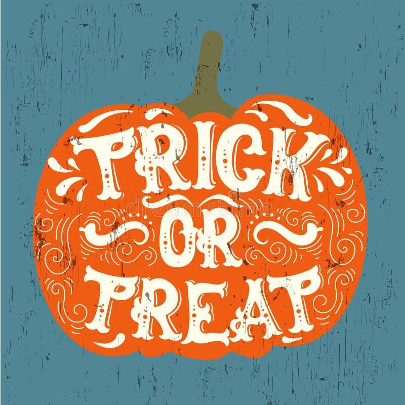 Il fondo tipografico di citazione di Halloween di vettore ha fatto a disposizione lo stile disegnato illustrazione vettoriale