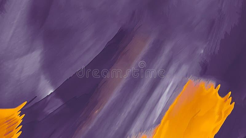 Il fondo variopinto creativo con dell'estratto pittura ad olio le onde Pittura liquida Progettazione per gli ambiti di provenienz illustrazione di stock