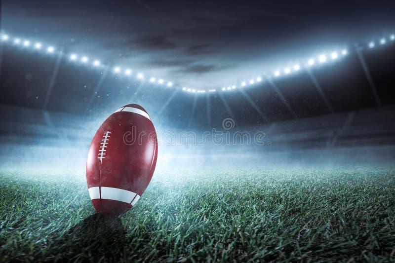 Il football americano è sullo stadio fotografia stock libera da diritti