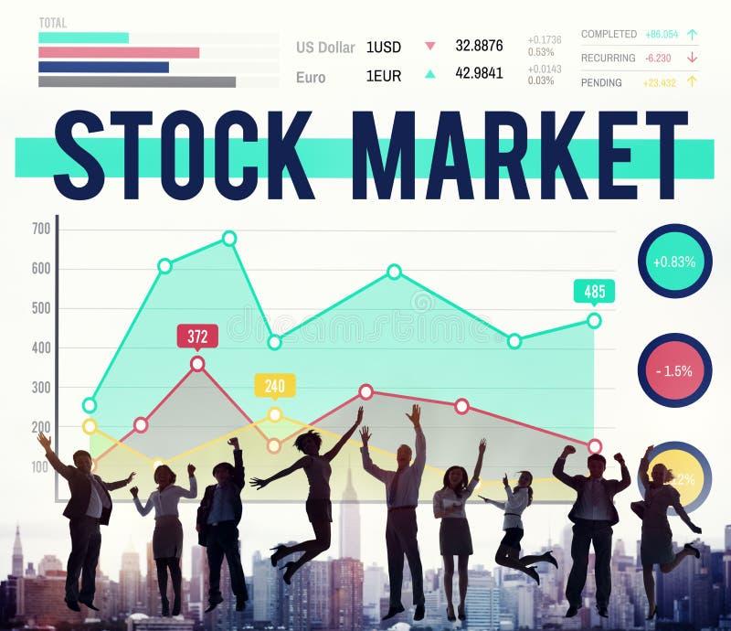 Il forex di finanza dell'economia del mercato azionario divide il concetto immagine stock libera da diritti