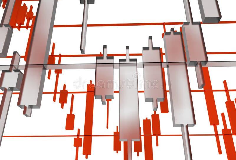 Il forex vetroso rappresenta graficamente l'illustrazione illustrazione di stock