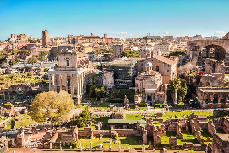 Il forum romano a Roma, Italia fotografie stock libere da diritti