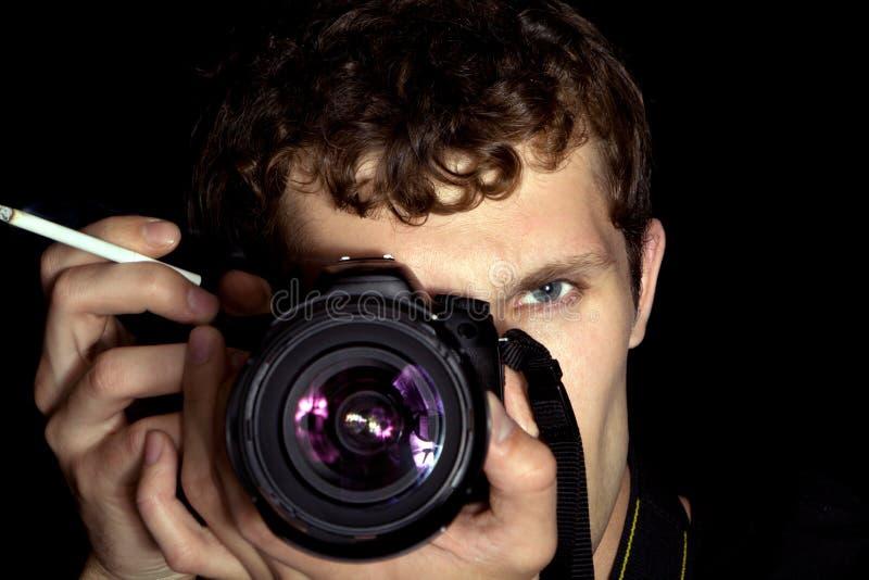 Il fotografo fotografie stock
