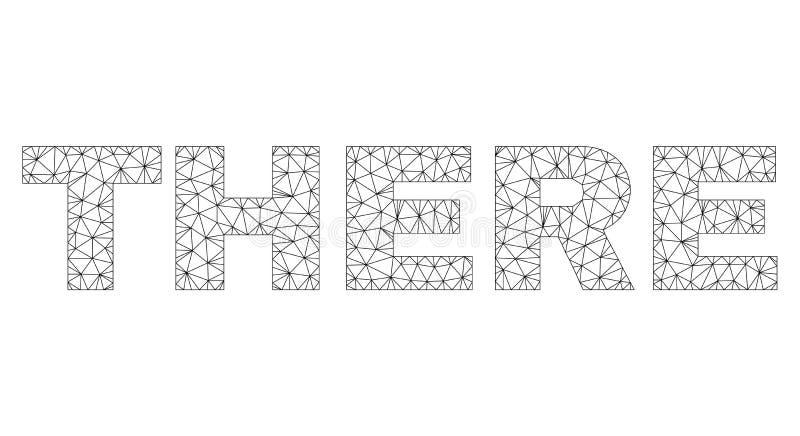 Il frame poligonale del cavo L? manda un sms all'etichetta illustrazione vettoriale