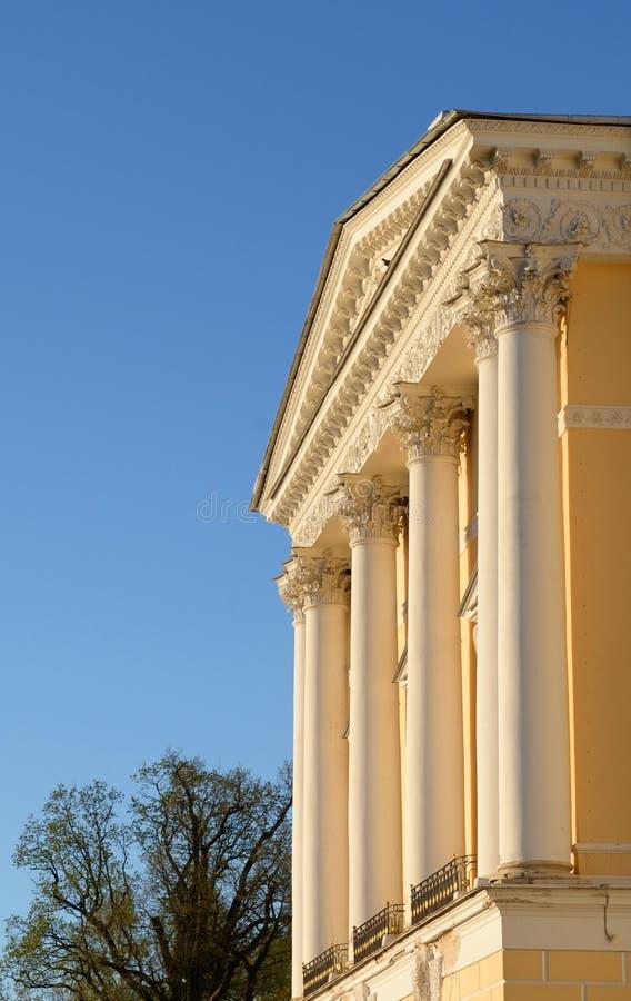 Il frammento del faÑade del palazzo del Pavlovsk immagine stock libera da diritti