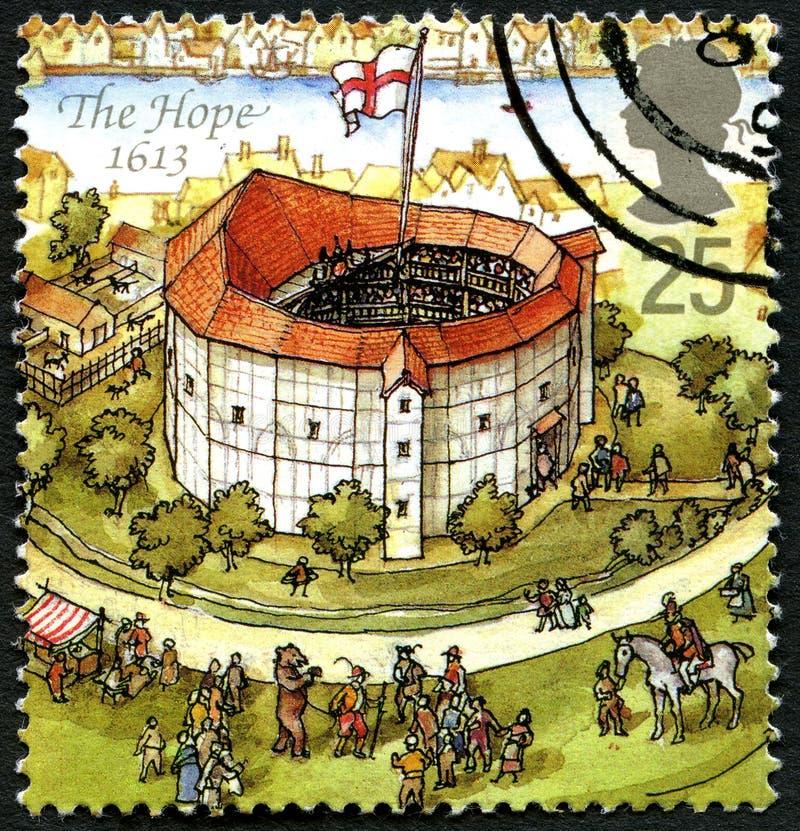 Il francobollo BRITANNICO di speranza immagine stock