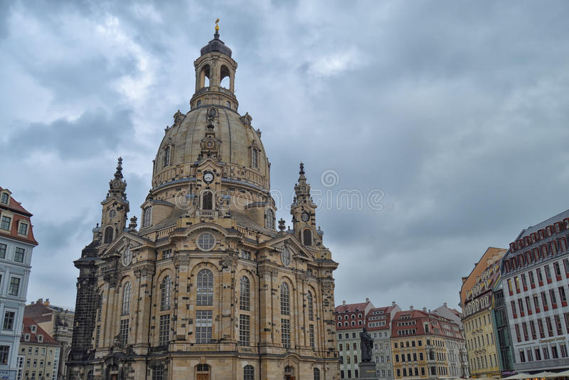 Il Frauenkirche a Dresda fotografia stock libera da diritti