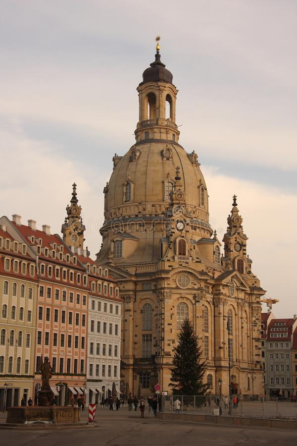 Il Frauenkirche a Dresda, Sassonia fotografia stock libera da diritti