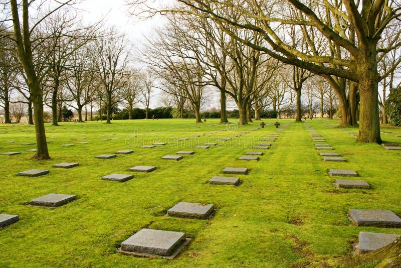 Il friedhof tedesco del cimitero nei campi della Fiandre menen il Belgio immagini stock libere da diritti