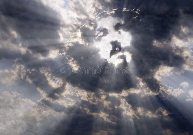 Il fronte di Cristo nel cielo fotografie stock