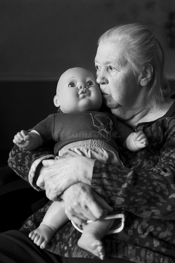 Il fronte di demenza fotografia stock