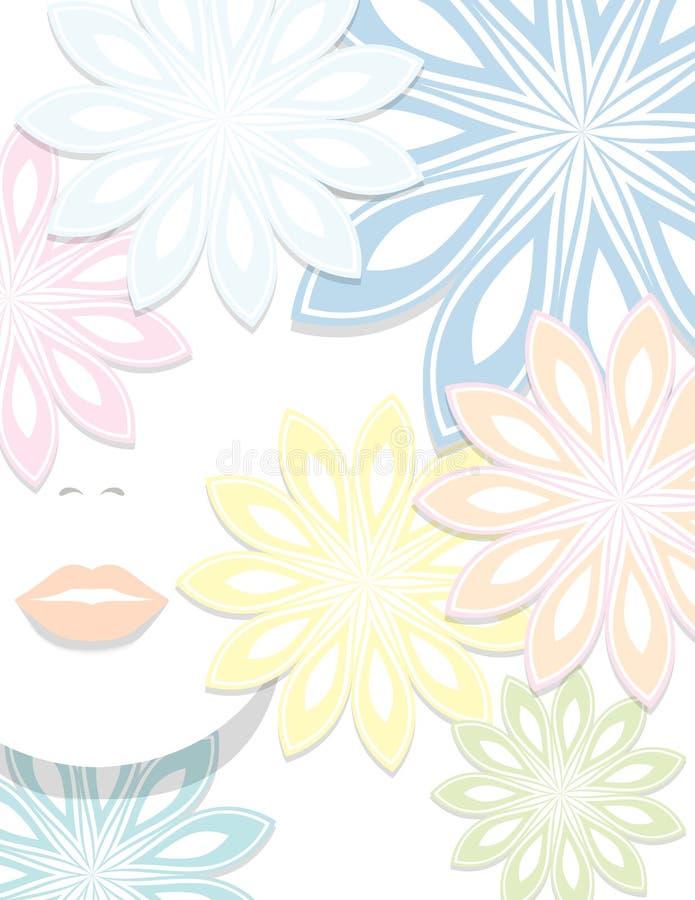 Il fronte, i fiori, la fantasia illustrazione di stock