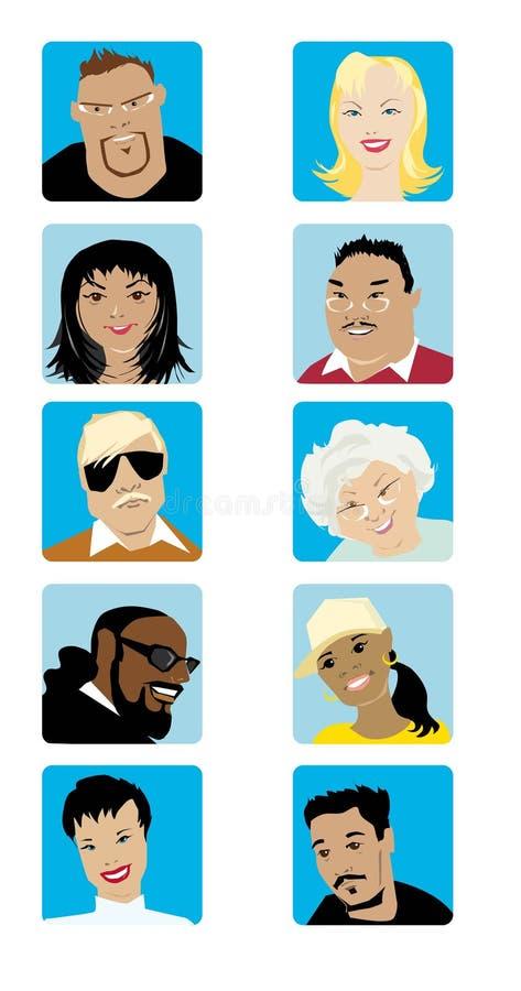Il fumetto affronta l'accumulazione   royalty illustrazione gratis