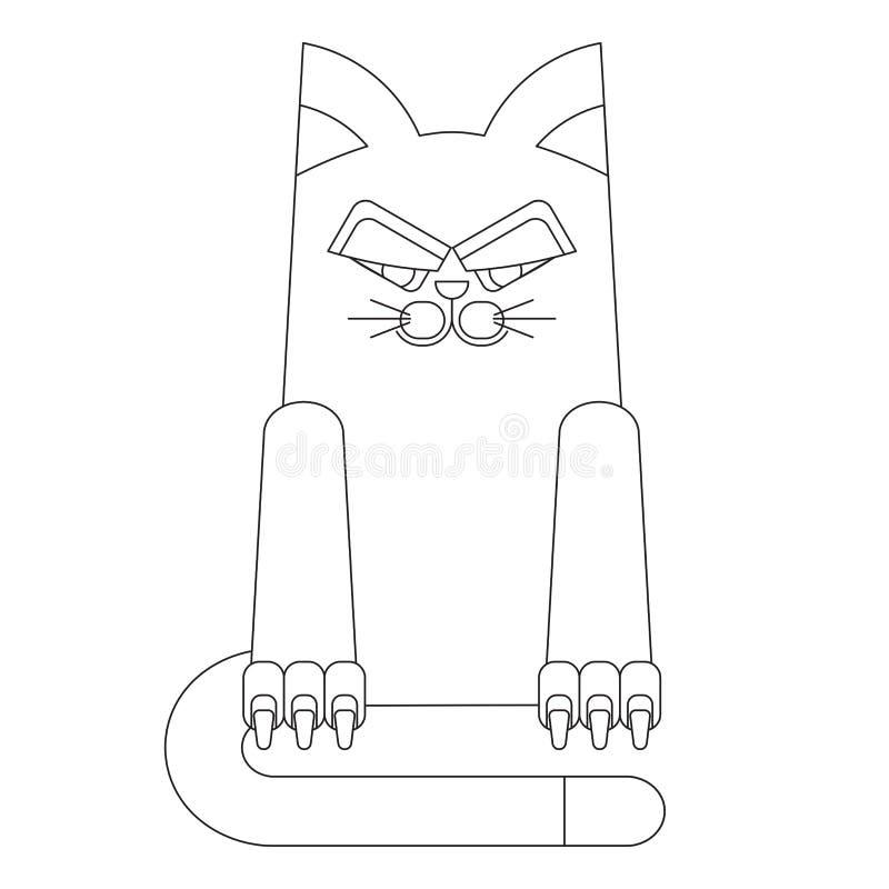 Il fumetto allinea il gatto royalty illustrazione gratis