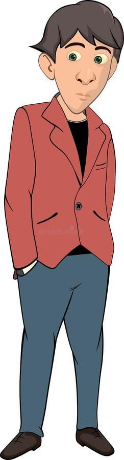 Il fumetto del giovane illustrazione di stock