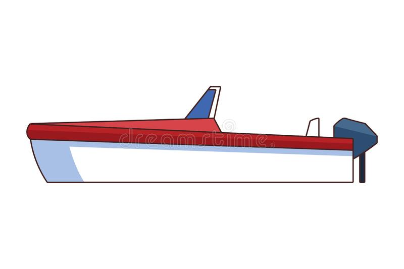 Il fumetto dell'icona della barca ha isolato royalty illustrazione gratis