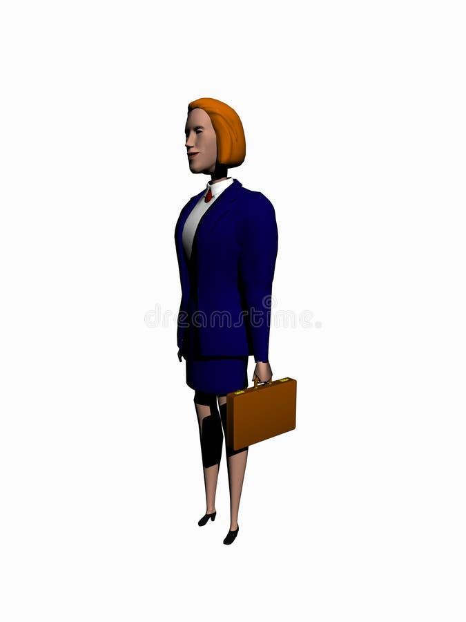Il fumetto della donna di affari rende sopra bianco. royalty illustrazione gratis